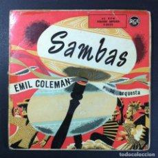 Discos de vinilo: EMIL COLEMAN - SAMBAS - EP RCA. Lote 256050835