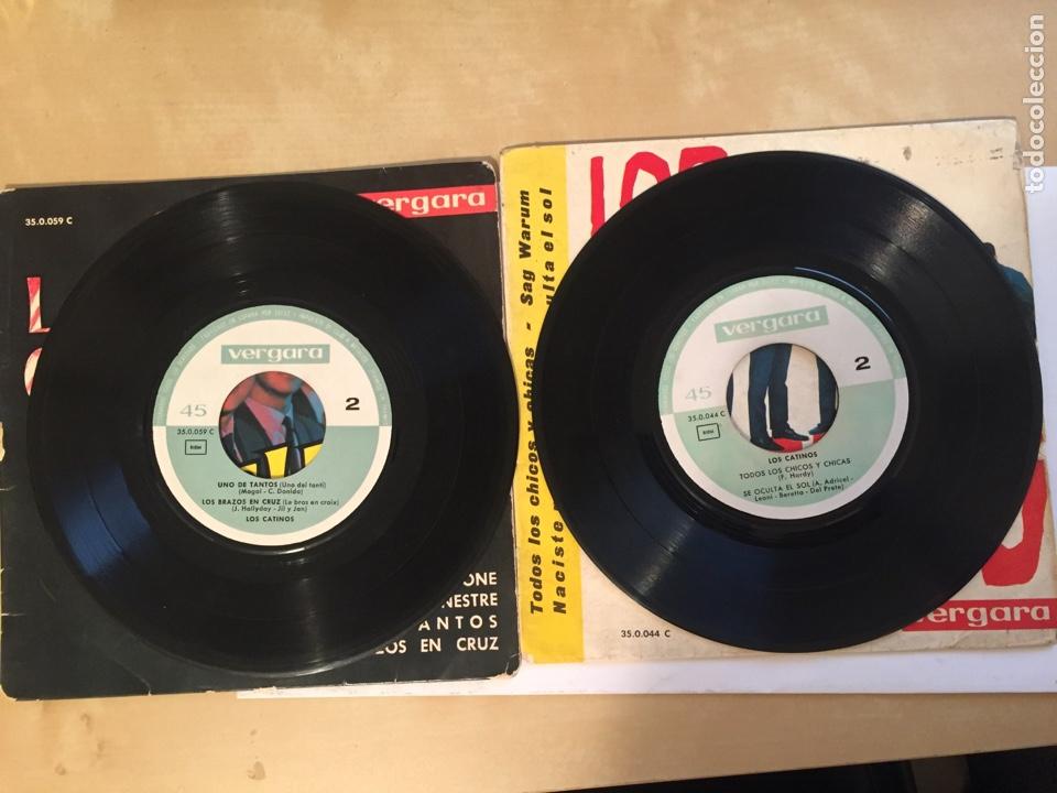 """Discos de vinilo: Los 2 Singles Los Catinos - Todos los Chicos + 3 El Baile Del Mattone +3 EP - Single 7"""" - 1963 1970 - Foto 3 - 256053355"""