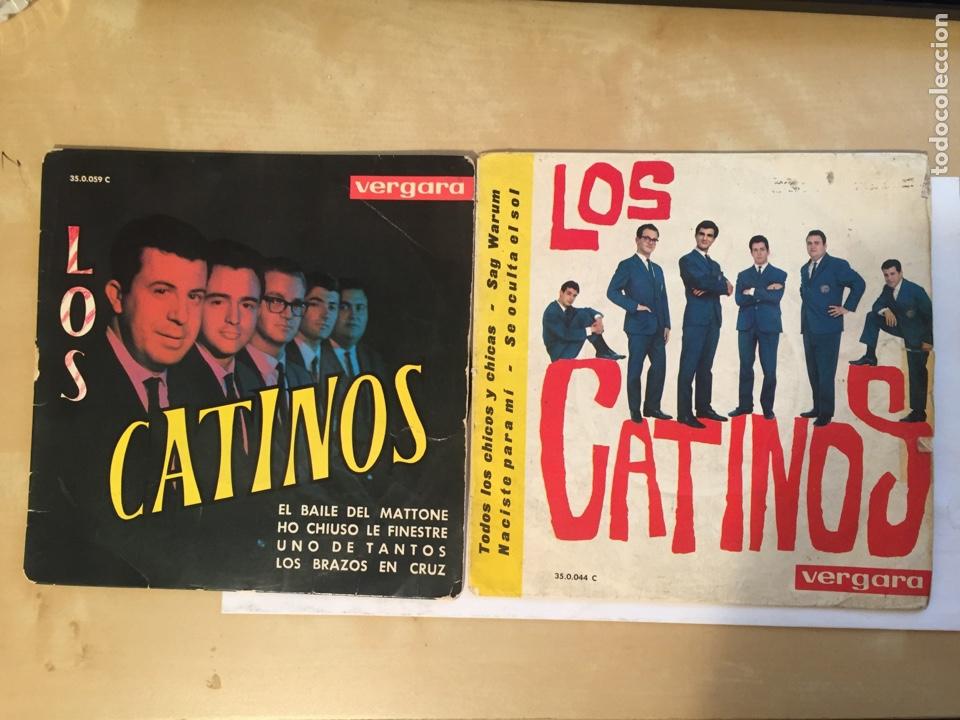 """LOS 2 SINGLES LOS CATINOS - TODOS LOS CHICOS + 3 EL BAILE DEL MATTONE +3 EP - SINGLE 7"""" - 1963 1970 (Música - Discos - Singles Vinilo - Solistas Españoles de los 50 y 60)"""