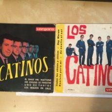 """Discos de vinilo: LOS 2 SINGLES LOS CATINOS - TODOS LOS CHICOS + 3 EL BAILE DEL MATTONE +3 EP - SINGLE 7"""" - 1963 1970. Lote 256053355"""