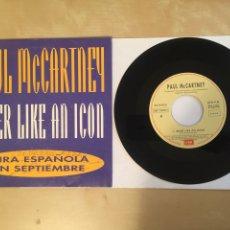 """Discos de vinilo: THE BEATLES - PAUL MCCARTNEY - BIKER LIKE AN ICON - PROMO SINGLE 7"""" - 1993 EMI SPAIN. Lote 256054065"""
