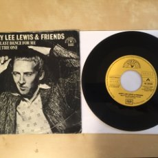 "Discos de vinilo: JERRY LEE LEWIS & FRIENDS - SAVE THE LAST DANCE FOR ME - SINGLE 7"" - 1979 SPAIN. Lote 256059070"