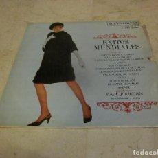 Discos de vinilo: PAUL JOURDAN SU ORQUESTA Y COROS - EXITOS MUNDIALES LP - RCA VICTOR 1968. Lote 256098545
