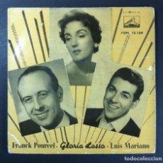 Discos de vinilo: FRANK POURCEL / GLORIA LASSO / LUIS MARIANO - CANASTOS - EP - LA VOZ DE SU AMO. Lote 256111570