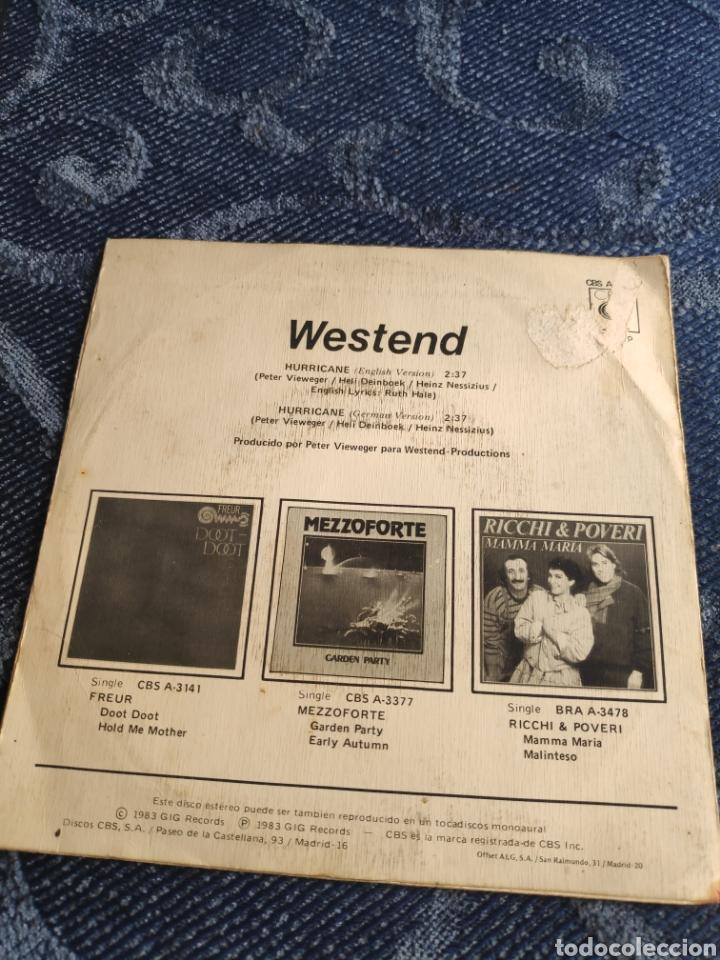 Discos de vinilo: Single vinilo Eurovision 83 - Westend - Hurricane - Foto 2 - 256122670