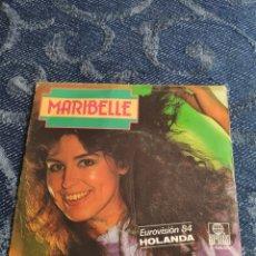 Disques de vinyle: SINGLE VINILO EUROVISION 84 DE ESPAÑA - MARIBELLE - IN LOVE WITH YOU. Lote 256124610
