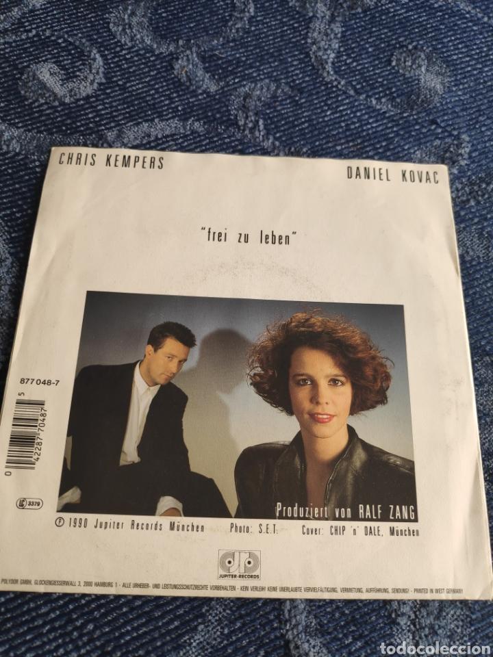 Discos de vinilo: Single vinilo Eurovision 90 Alemania - Chris Kempers & Daniel Kovac - Frei zu leben - Foto 2 - 256125870