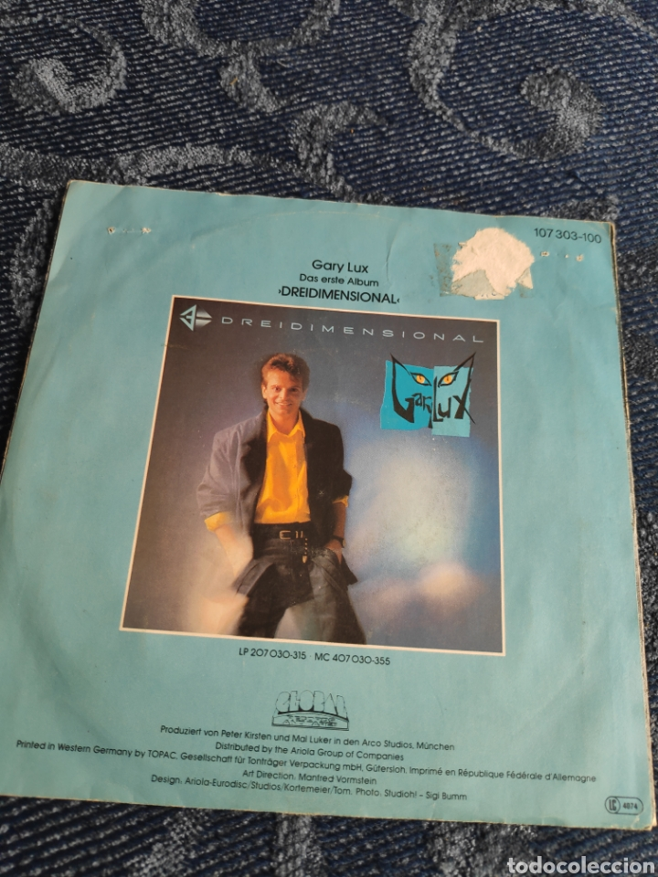 Discos de vinilo: Single vinilo Eurovision 85 Alemania - Gary Lux - Kinder dieser Welt - Foto 2 - 256127400