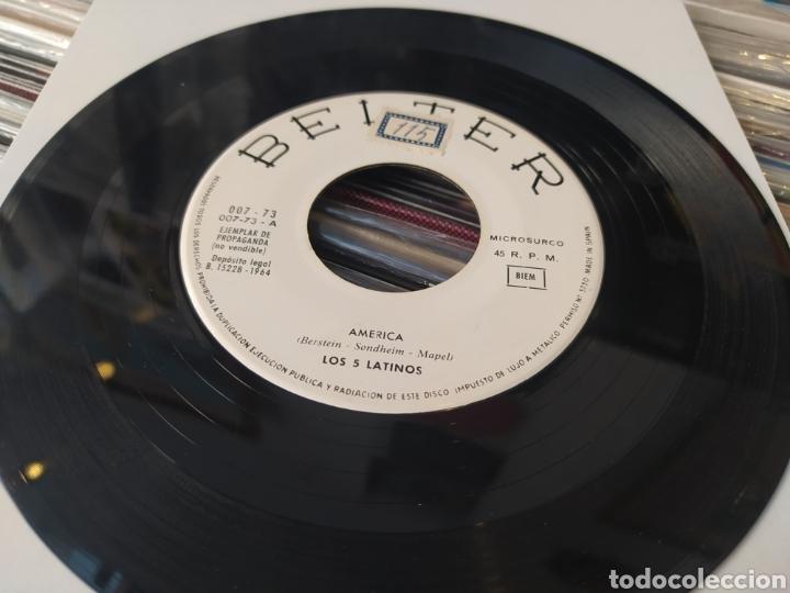 LOS CINCO LATINOS–AMÉRICA / TU JUGUETE . SINGLE GENÉRICO 1964. (Música - Discos - Singles Vinilo - Grupos Españoles 50 y 60)