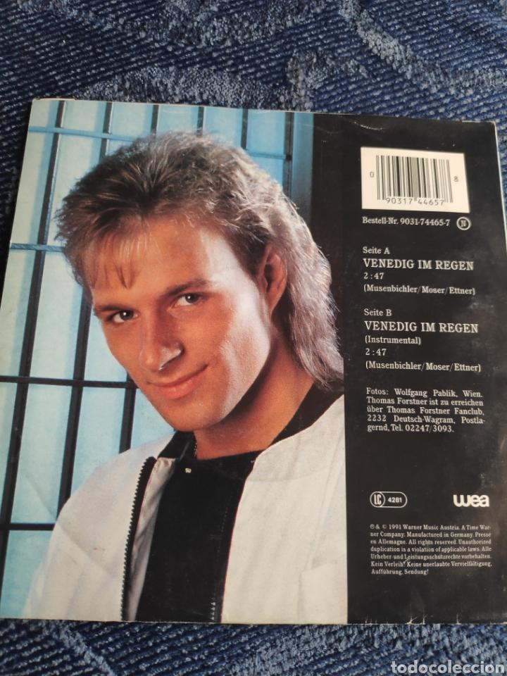 Discos de vinilo: Single vinilo Eurovision 91 - Thomas Forstner - Venedig im regen - Instrumental - Foto 2 - 256133555