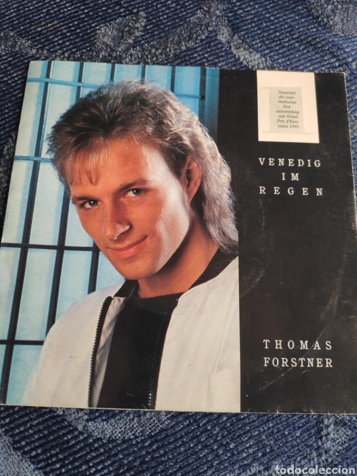 SINGLE VINILO EUROVISION 91 - THOMAS FORSTNER - VENEDIG IM REGEN - INSTRUMENTAL (Música - Discos - Singles Vinilo - Festival de Eurovisión)