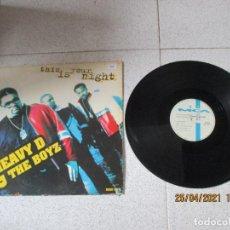 Discos de vinilo: HEAVY D. & THE BOYZ - THIS IS YOUR NIGHT - SPAIN - MCA RECORDS - REF MCT 32212 - PLS 802 - L -. Lote 256136195