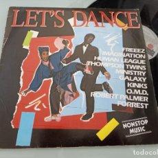Discos de vinilo: LET´S DANCE - NON STOP MUSIC - LP RECOPILATORIO DE 1983 ..ROBERT PALMER, OMD,KINKS, FREEEZ ..ETC. Lote 256148140
