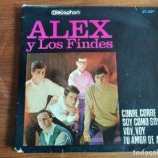 Discos de vinilo: ALEX Y LOS FINDES - CORRE, CORRE (VERSIÓN SPENCER DAVIS GROUP) + 3 ***** RARO EP MOD BEAT 1966. Lote 256152440