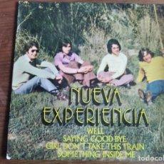 Discos de vinilo: NUEVA EXPERIENCIA - GIRL DON'T TAKE THIS TRAIN + 3 ***** RARO EP BLUE EYED SOUL BEAT 1971. Lote 256153835
