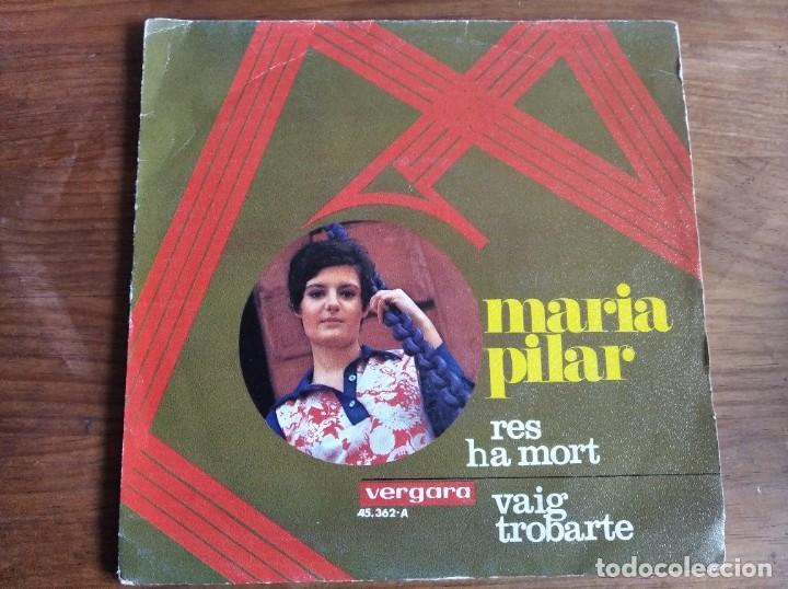 MARIA PILAR - RES HA MORT ***** RARO SINGLE BEAT SOUL CATALÀ 1969 (Música - Discos - Singles Vinilo - Solistas Españoles de los 50 y 60)