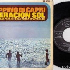 Discos de vinilo: PEPPINO DI CAPRI - OPERACION SOL + 3 - EP DE VINILO EDICION ESPAÑOLA. Lote 256166530