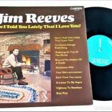 Discos de vinilo: VINILO JIM REEVES. Lote 256646810