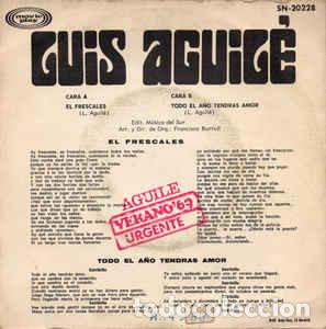 Discos de vinilo: LUIS AGUILE - EL FRESCALES - Foto 2 - 257277200