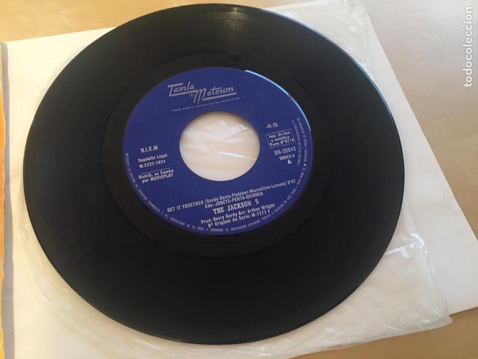 "Discos de vinilo: The Jackson 5 - Get It Together - SINGLE 7"" - 1974 Tamla Motown SPAIN - Foto 3 - 257277680"