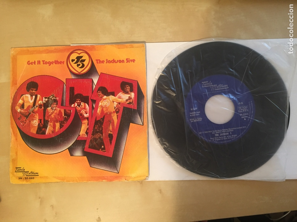 "THE JACKSON 5 - GET IT TOGETHER - SINGLE 7"" - 1974 TAMLA MOTOWN SPAIN (Música - Discos - Singles Vinilo - Funk, Soul y Black Music)"
