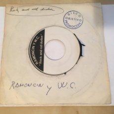 "Discos de vinilo: RAMONCIN Y W.C. - ROCK AND ROLL DUDUA - TEST PRESSING PROMO SINGLE RADIO 7"" - 1978 SPAIN. Lote 257283295"