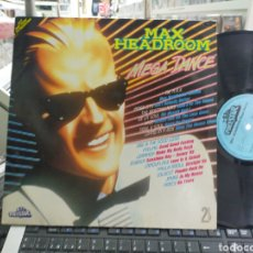 Discos de vinilo: MAX HEADROOM MEGA DANCE DOBLE LP ALEMANIA 1989. Lote 257286325
