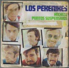Discos de vinilo: LOS PEKENIKES, HECHIZO Y PUNTOS SUSPENSIVOS, SINGLE DEL AÑO 1968, CARATULA CON ESQUINA DEFECTUOSA. Lote 257289655