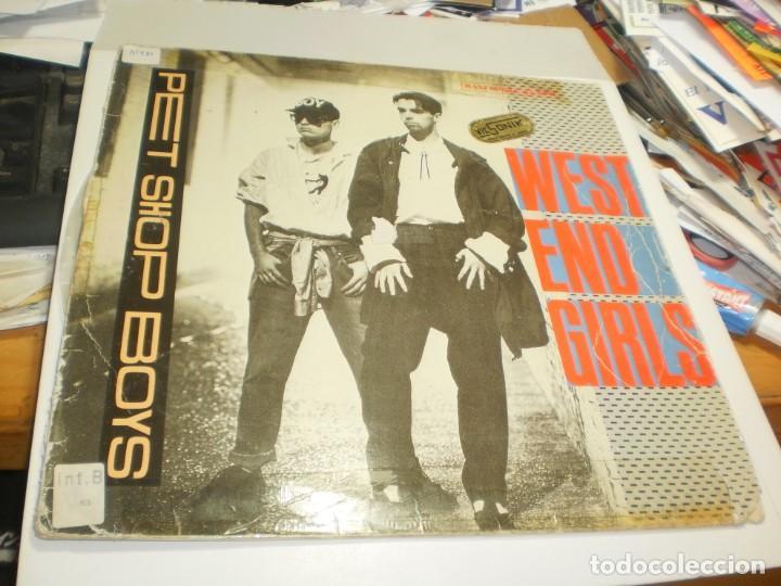 MAXI SINGLE PET SHOP BOYS. WEST END GIRLS. EMI 1985 SPAIN (PROBADO, BIEN, BUEN ESTADO, LEER) (Música - Discos de Vinilo - Maxi Singles - Pop - Rock Internacional de los 90 a la actualidad)