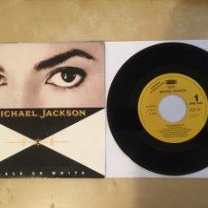 """Discos de vinilo: MICHAEL JACKSON - BLACK OR WHITE - PROMO SINGLE RADIO 7"""" - 1991. Lote 257296105"""