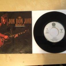 """Discos de vinilo: JON BON JOVI - MIRACLE - SINGLE RADIO 7"""" - 1990. Lote 257298855"""
