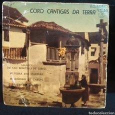 Discos de vinilo: CORO CANTIGAS DA TERRA - MANEO DE SAN BENITIÑO + 3 1961. Lote 257298970