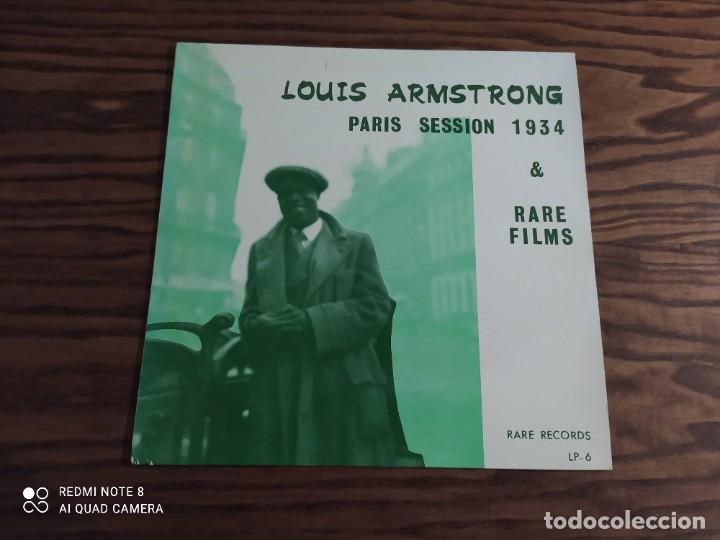 RARO. DISCO LP DE VINILO LOUIS ARMSTRONG, PARÍS SESSION 1934, RARE FILMS (JAZZ, BLUES) (Música - Discos - LP Vinilo - Jazz, Jazz-Rock, Blues y R&B)