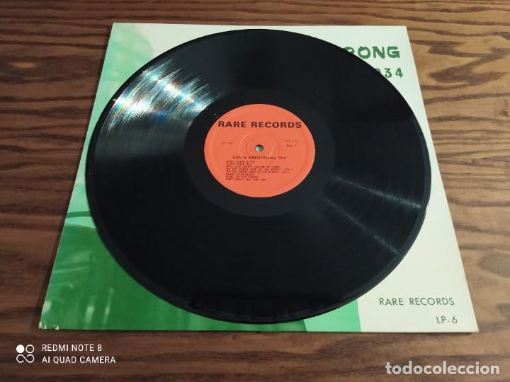 Discos de vinilo: RARO. Disco LP de vinilo Louis Armstrong, París session 1934, rare films (jazz, blues) - Foto 3 - 257310145
