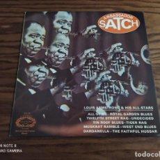Discos de vinilo: DISCO LP DE VINILO LOUIS ARMSTRONG & HIS ALL-STARS, AMBASSADOR SATCH (JAZZ, BLUES). Lote 257313055
