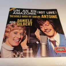 Discos de vinilo: SINGLE DISCO VINILO UN AN EN AMAZONIE HOT LOVE. Lote 257317665