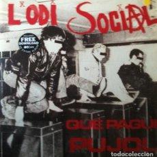 """Discos de vinilo: L'ODI SOCIAL: """"QUE PAGUI PUJOL. MÉS ODI QUE MAI"""". LP VINILO COLOR ED. LIMITADA 2011. Lote 257319670"""