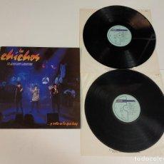 Discos de vinilo: 0421- LOS CHICHOS Y ESTO ES LO QUE HAY & SABINA SPAIN 1989 VINILO 2 LPS POR VG+ DIS VG. Lote 257320890