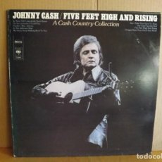 Discos de vinilo: JOHNNY CASH --- FIVE FEET HIGH AND RISING. Lote 257321775