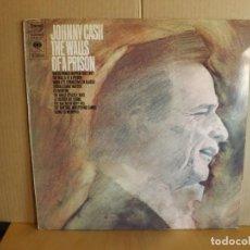 Discos de vinilo: JOHNNY CASH --- THE WALLS OF A PRISION. Lote 257323225