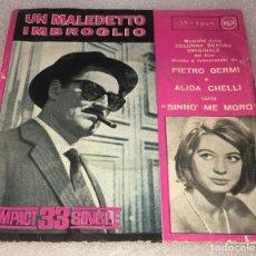 Discos de vinilo: SINGLE COMPACT MUSICA DEL FILM UN MALEDETTO IMBROGLIO - SINNO' ME MORO - SOSPETTO -PEDIDO MINIMO 7€. Lote 257331785