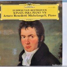 Discos de vinilo: LP. BEETHOVEN. SONATA PARA PIANO Nº 4. ARTURO BENEDETTI MICHELANGELI. Lote 257336050