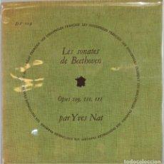 Discos de vinilo: LP. LES SONATES DE BEETHOVEN. OP. 109, 110, 111. NAT. Lote 257336175