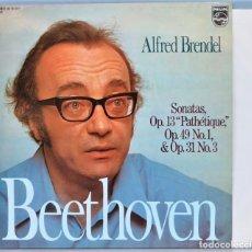 Discos de vinilo: LP. BEETHOVEN. SONATAS OP. 13 PATHETIQUE. OP. 49 N 1. OP 31 N 3. Lote 257336370