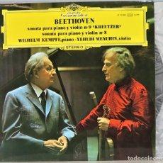 Discos de vinilo: LP. SONATA PARA PIANO Y VIOLIN 9. KREUTZER. SONATA PARA PIANO Y VIOLIN 8. KEMPFF. Lote 257336510