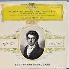 Discos de vinilo: LP. BEETHOVEN. STREICHQUARTETT B-DUR OP.130. GROSSE FUGE B-DUR OP.133. Lote 257336595