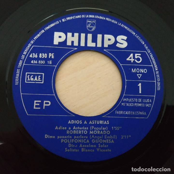 Discos de vinilo: ADIOS A ASTURIAS - ROBERTO MORADO, POLIFÓNICA GIJONESA, JOSÉ BLANCO, CELESTINO RUBIERA EP COMO NUEVO - Foto 3 - 257337155
