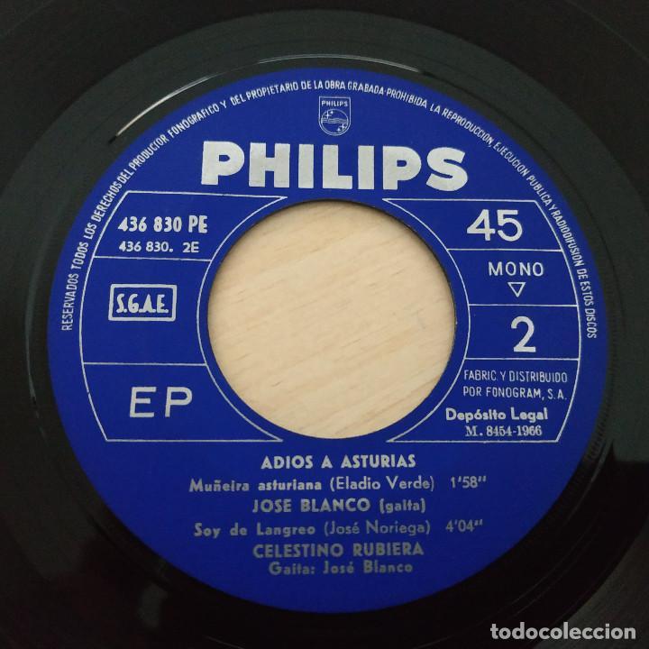 Discos de vinilo: ADIOS A ASTURIAS - ROBERTO MORADO, POLIFÓNICA GIJONESA, JOSÉ BLANCO, CELESTINO RUBIERA EP COMO NUEVO - Foto 4 - 257337155