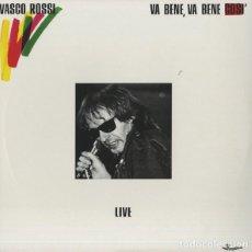 Discos de vinilo: VASCO ROSSI – VA BENE, VA BENE COSÌ - LIVE. Lote 257338935