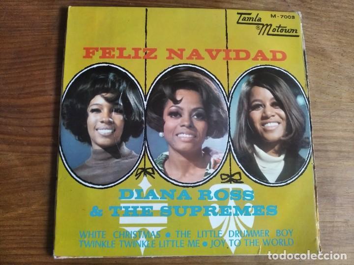 DIANA ROSS & THE SUPREMES - FELIZ NAVIDAD **** SUPER RARO EP ESPAÑOL 1968 (Música - Discos de Vinilo - EPs - Funk, Soul y Black Music)